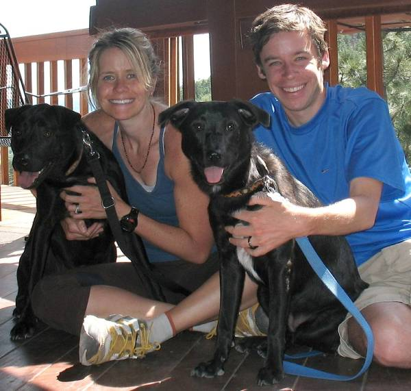 The Family after a Trail Run in Colorado.  Summer 2008.