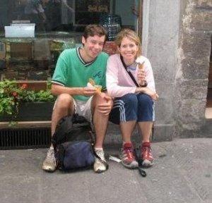 Honeymoon in Italy.  Yummy Gelato.