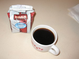 Coffee before I mutilate it.