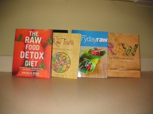 My raw foods cookbook collection.  Love them all!
