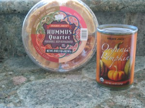 Trader Joe's Hummus & Canned Pumpkin