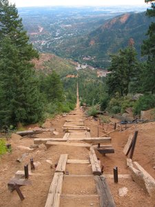Incline Trail (picture courtesy of Flickr).  2,696 steps and varies between a 48%-60% grade.