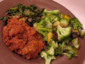 Red Lentil Daal & Saag with veggies