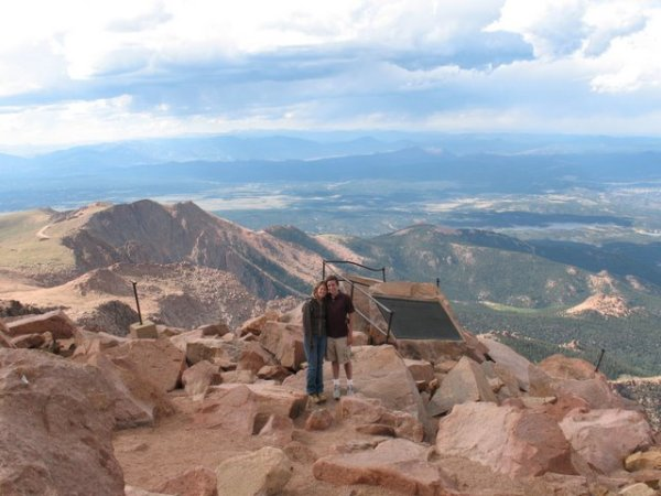 Chris and I at the top of Pike's Peak