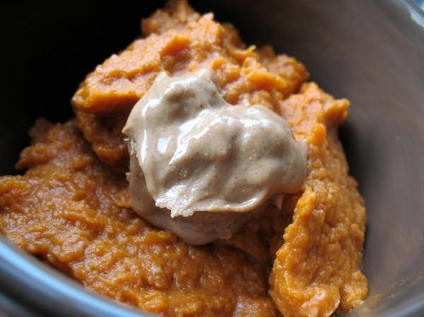 Pumpkin pie a la almond butter