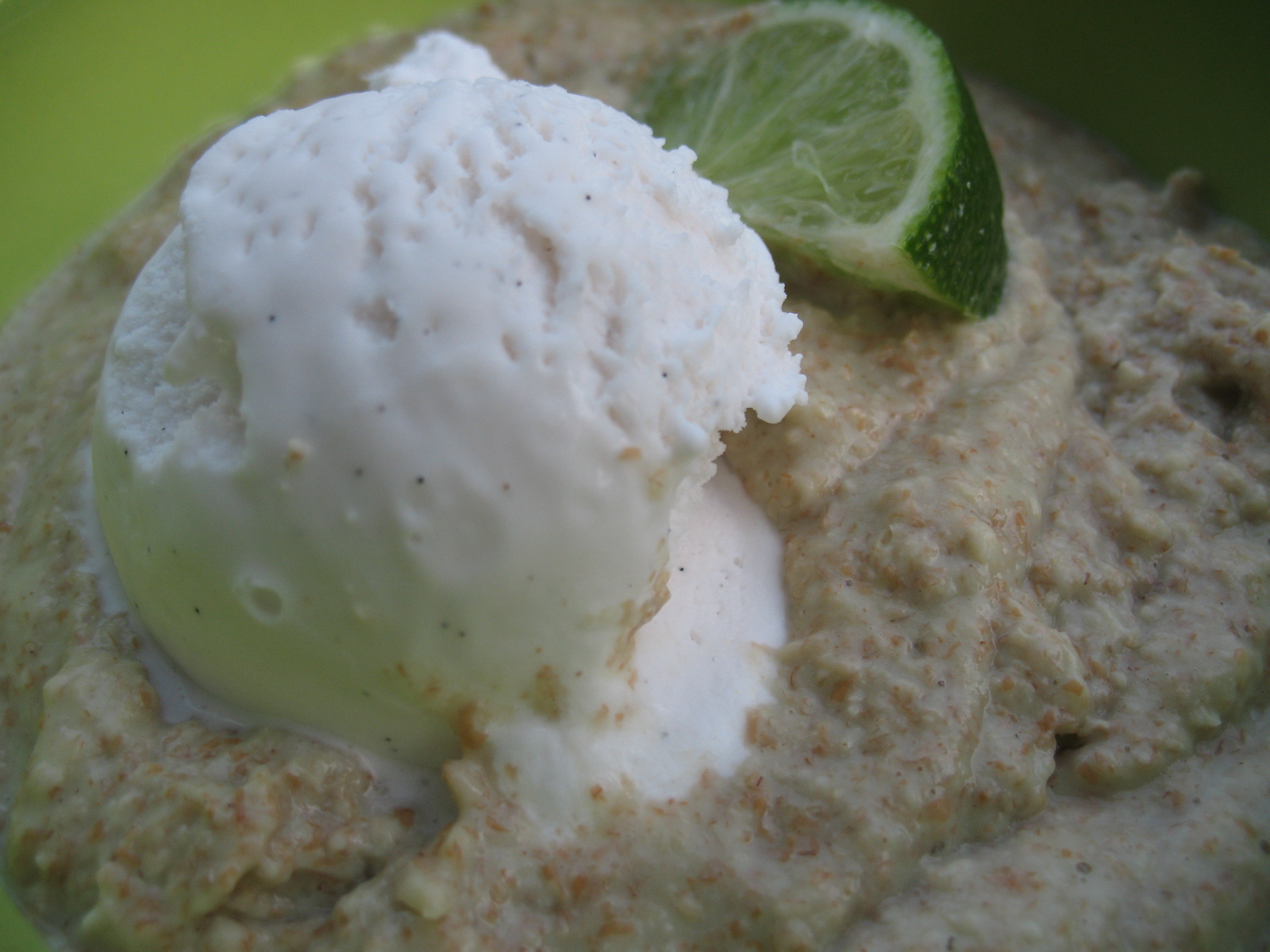 Key Lime Pie Oats A La Mode