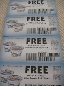 Free Greek yogurt?  Yes please. :)