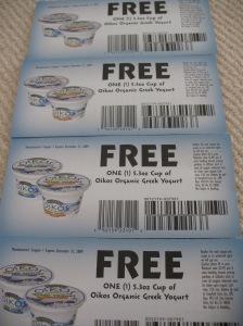 Free Greek yogurt?  Yes please. :)