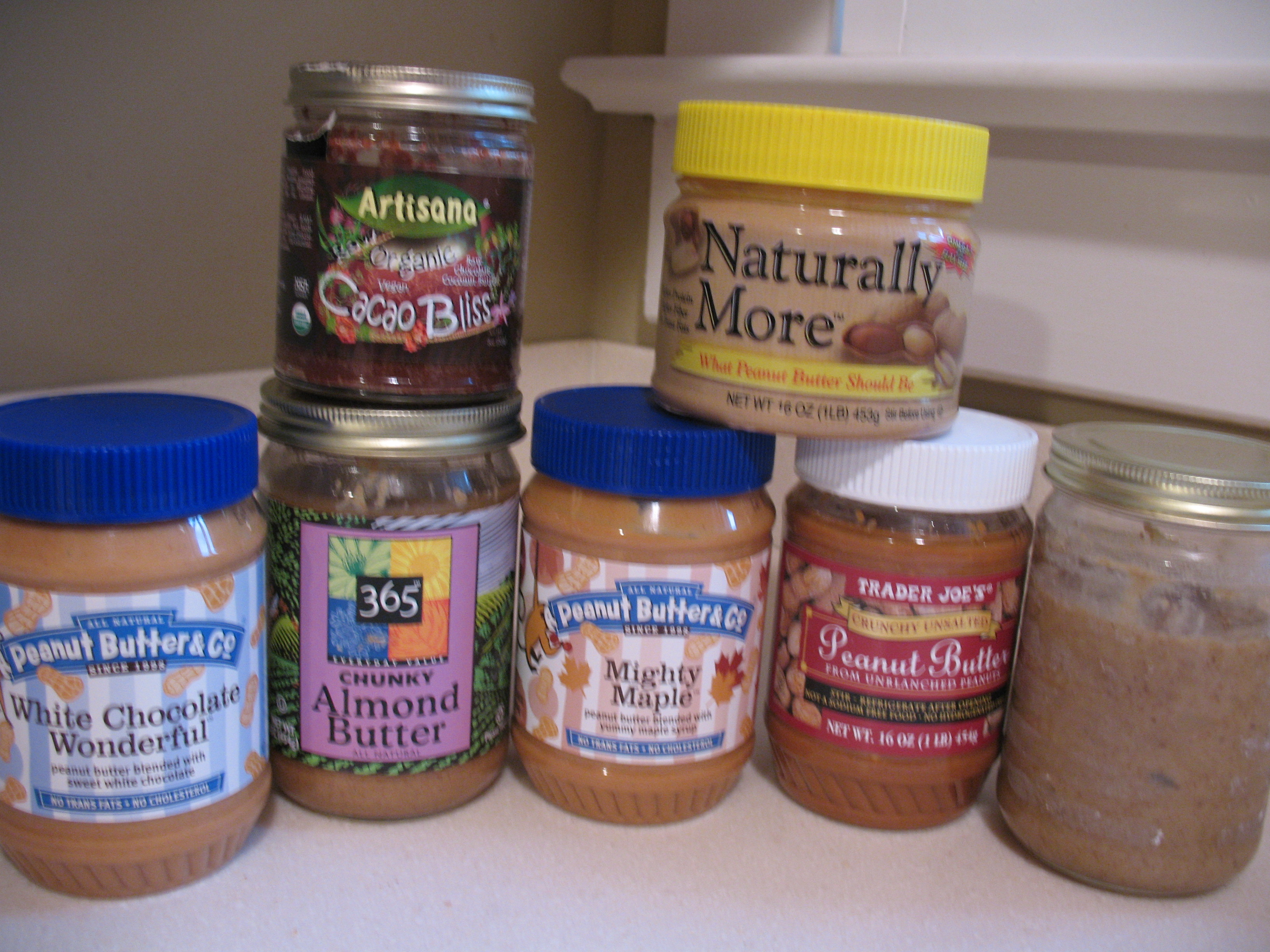 Our current nut butter collection.