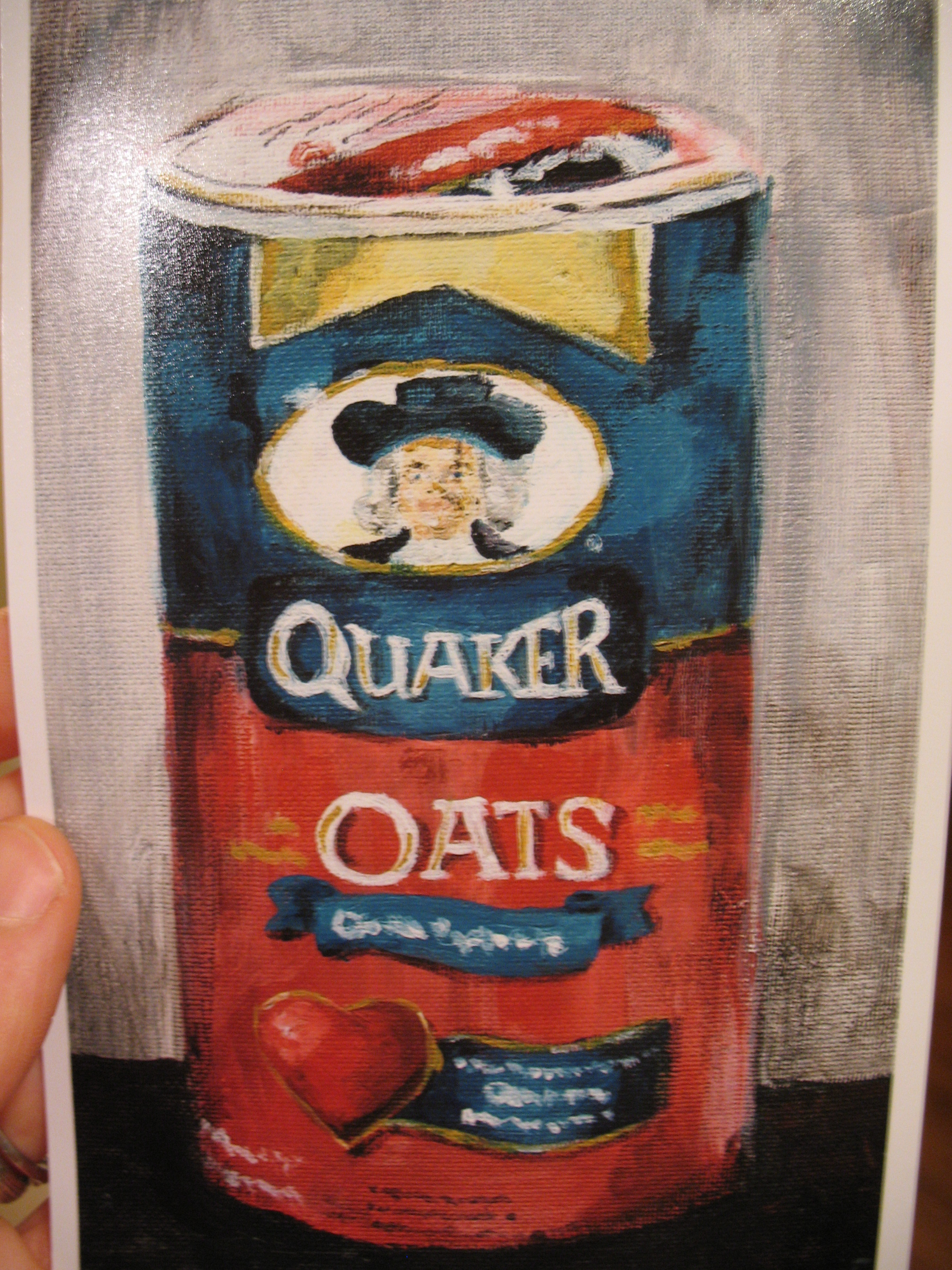 Now I can stare at Mr. Quaker everyday.  Jay, don't be jealous!