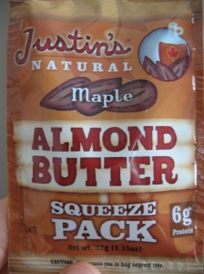 Almond butter + maple syrup = sweet nut happiness
