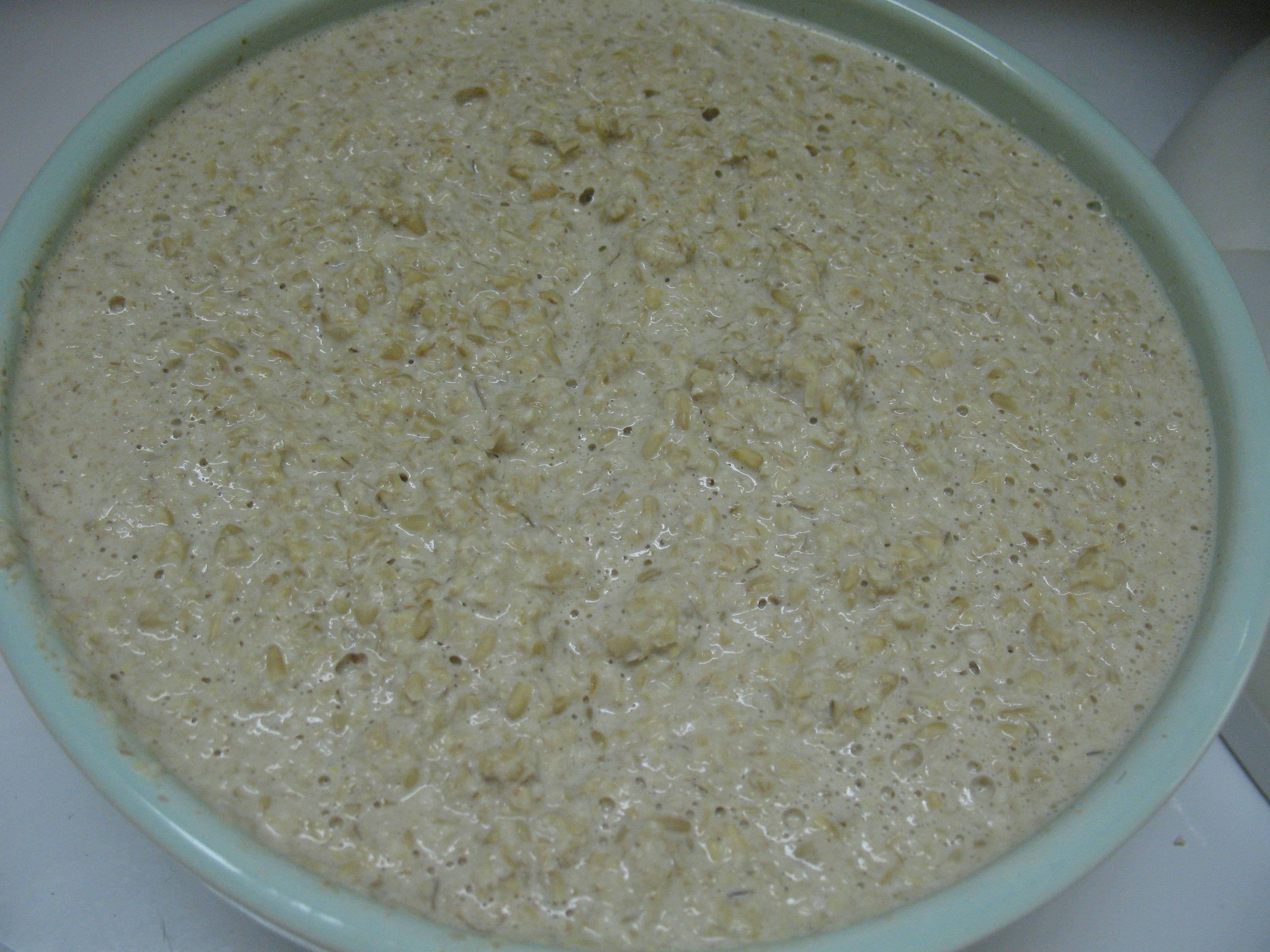 Raw oatmeal.