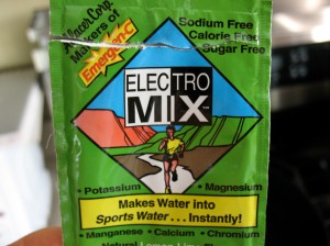 Electrolytes replenished - check!