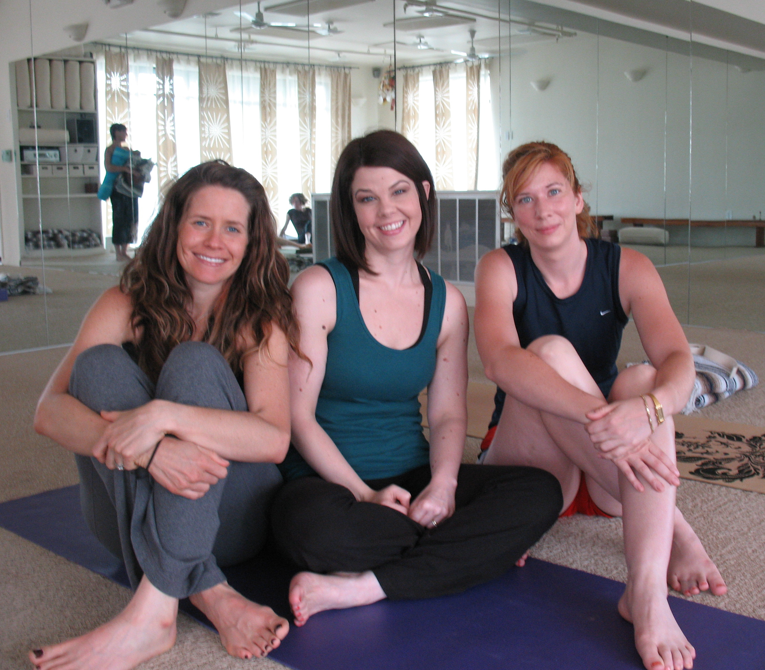 Me & my fellow yoginis.