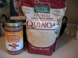 Costco now carries organic quinoa in bulk, and I've been reunited with my Maranatha almond butter.  Love you CD!
