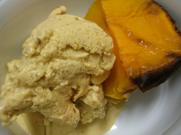 I served mine with a side of squash.  CD, why haven't we ever owned an ice-cream maker before?!?