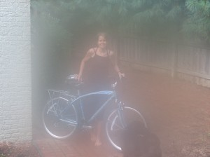 HEAB emerges from heaven with a new bike.
