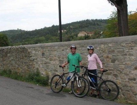 Biking in Tuscany on our honeymoon.