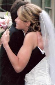 wedding hug