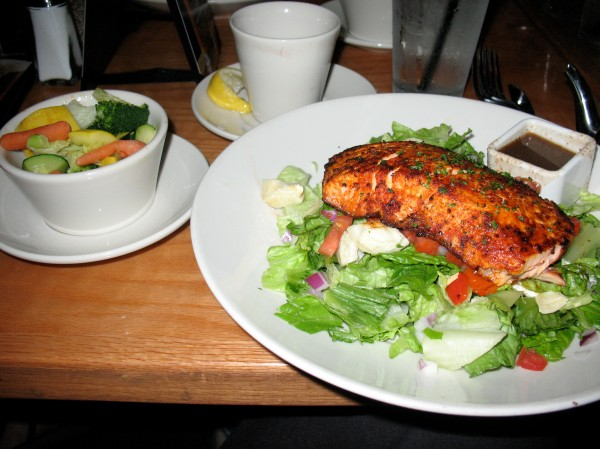 That salmon was so good! CD, you need to learn how to blacken fish. ;)